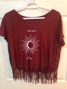 New W/o Tags American Eagle frayed crop top