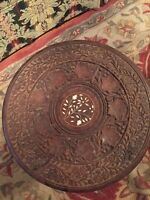 Small round antique Indian table