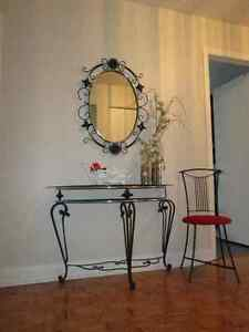 Table console et mirroir