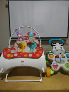 Vibrating baby chair and zebra light up and sing. Zebra Walker