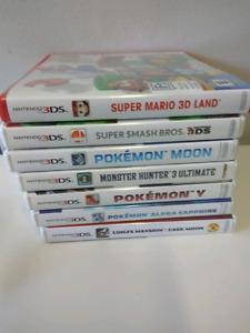 Jeux 3ds a vendre