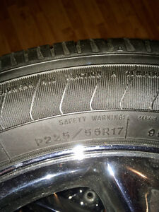 """17"""" P225/55R17 tires and rims"""