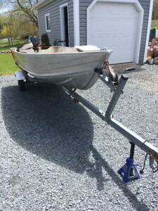 12ft Princecraft Boat Motor and Trailer