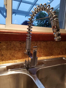 Kitchen Faucet with double sink.