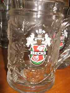 Assorted Beck's BEER steins heavy glass