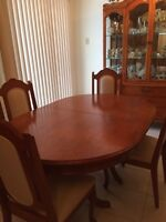 Italian antique table with chairs