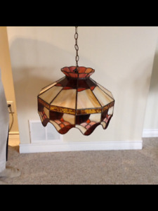 Beautiful Hanging lamp with stained glass