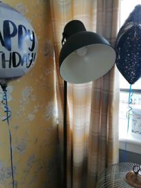 Pair of grey standing lamps