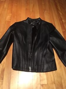 "Manteau cuir femme style ""moto"""