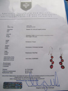 A pair of brand new 14k white gold ruby earrings Kitchener / Waterloo Kitchener Area image 2