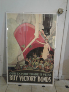 Ad poster from Canadian war museum!!!!  1918-1914 reprint