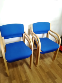 """4 Stacking Office Chairs """"Verco"""""""