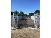 Storage caravan truck yard to rent for let Me9 Kent for scaffolding builders unit workshop