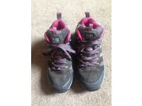 Karrimor pink and grey hiking boots size 7