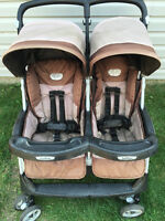 peg prego aria side by side double stroller