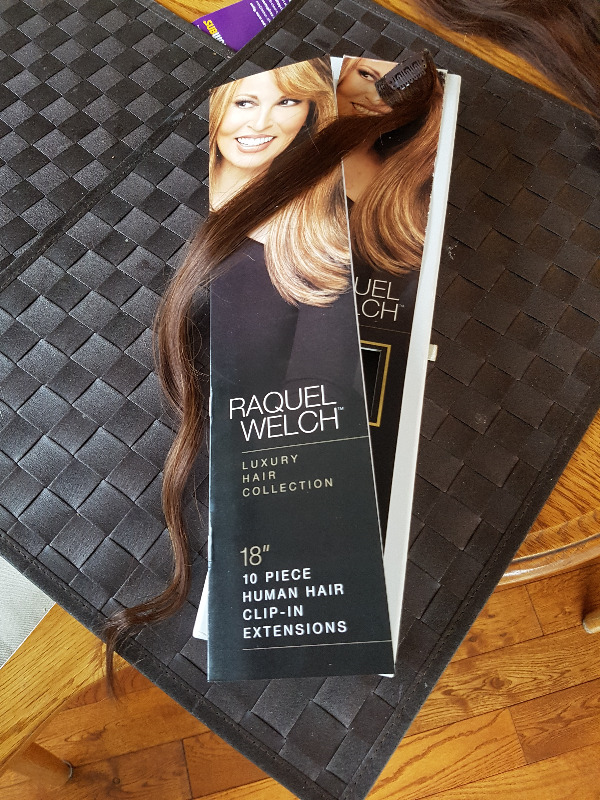 Raquel Welch 18quot Clip In Brown Human Hair Extensions Other