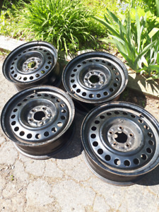 4 steel rims - excellent condition. 5-bolt pattern, 4 1/2""