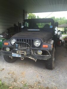 1997 jeep tj completely linexed