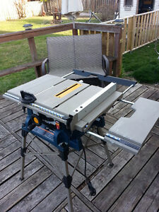 "RYOBI 10"" PORTABLE TABLE SAW (TOP OF THE LINE)"