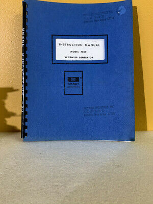 Exact Model 7060 Vcfsweep Generator Instruction Manual