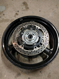 2008 sv 650 front wheel with rotors