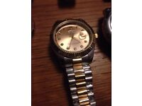 Rolex Mens Watch also Hublot Gucci Armani Cartier