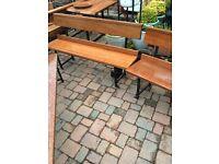 Reclaimed solid mahogany bench