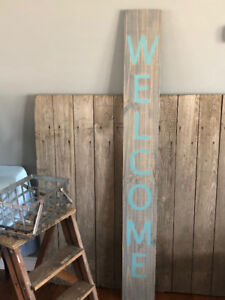 """""""WELCOME"""" PORCH SIGNS"""
