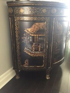 BEAUTIFUL CHINOISERIE BOW FRONT CHEST London Ontario image 2