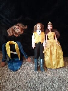 Disney Beauty and the Beast Barbie dolls.. Belle and Beast set