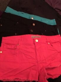 4 pairs of ladies shorts by denim co Size 16 for sale
