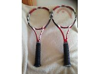 2 identical Head Prestige Microgel Mid plus tennis rackets