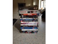 DVD bundle. film and tv series. Total 127 and DVD stands.