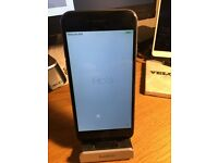 iPhone 6 64gb Space Gray, mint condition + Headphone unused (sealed) charger and box EE locked