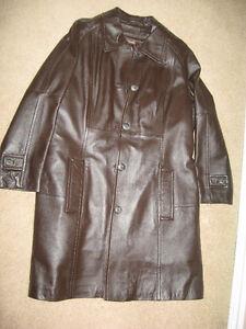 Danier Lined Leather Coat - Never Worn