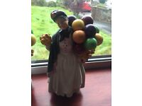 """Royal Doulton """"Biddy Pennyfarthing"""" Balloon Lady, Immaculate Condition!"""
