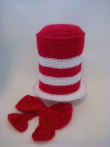 Red and White Cat in the Hat with Bow Newborn Photo Prop Peterborough Peterborough Area image 2