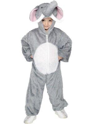 Smi - Karneval Kinder Kostüm Elefant Overall als Tier Gr.5-8 Jahre ()