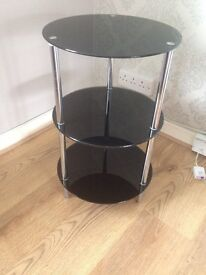 Black and chrome side table