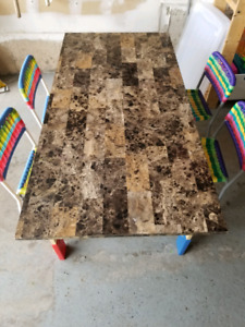 Kids wooden Ikea table and 4 chairs