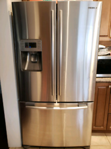 "Samsung 36"" Stainless Steel French door fridge - works great"