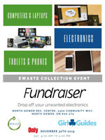 Electronics Recycling Fundraiser Girl Guides North Gower Nov 30