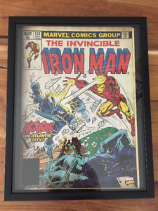 Grand Cadre Marvel Comics Iron Man Avengers Ragnarok 50$ 22X28