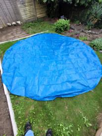 Blue tarpoulin