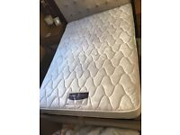 Silent night double mattress and duck down topper