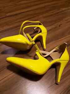 Yellow Shoes- Heels and Tom's