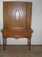 Antique Closed China Cabinet