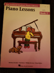 Piano Lessons-Book 2 Hal Leonard Student Piano Library Textbook