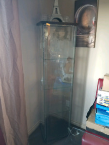 Last day here...Light up glass display cabinet