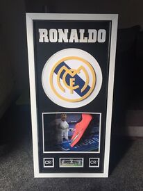 Genuine signed Ronaldo boot with COA
